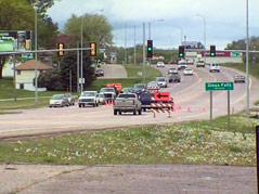 sioux falls highway 42 business traffic road vehicles