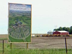 lyon county casino land sign near larchwood