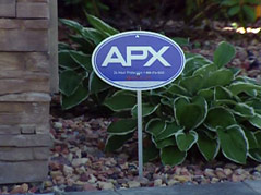 apx alarm security system sign better business bureau warning