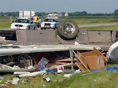 interstate 90 accident bridgewater exit semi driver asleep kansas rv #070810
