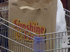 sunshine grocery bag cart being sold to hyvee