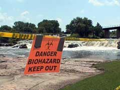 Visitors to the Falls surprised by biohazard signs
