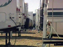 brown county fair campground camping sites full busy crowded campers