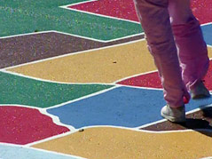 united states map on school playground