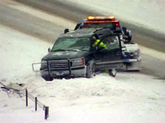 Snow, driving