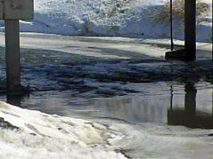 watertown flooding concerns snow melt water #031511