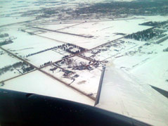 aerial photo snow on the ground