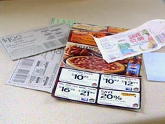 coupons clipping save money finances cash bargain