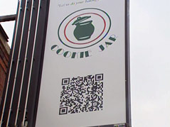 cookie jar qr code sign promotion
