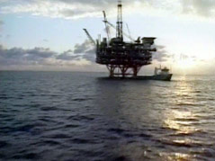 off-shore oil drilling rig gulf of mexico