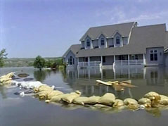 missouri river flooded neighborhood north of fort pierre flooding