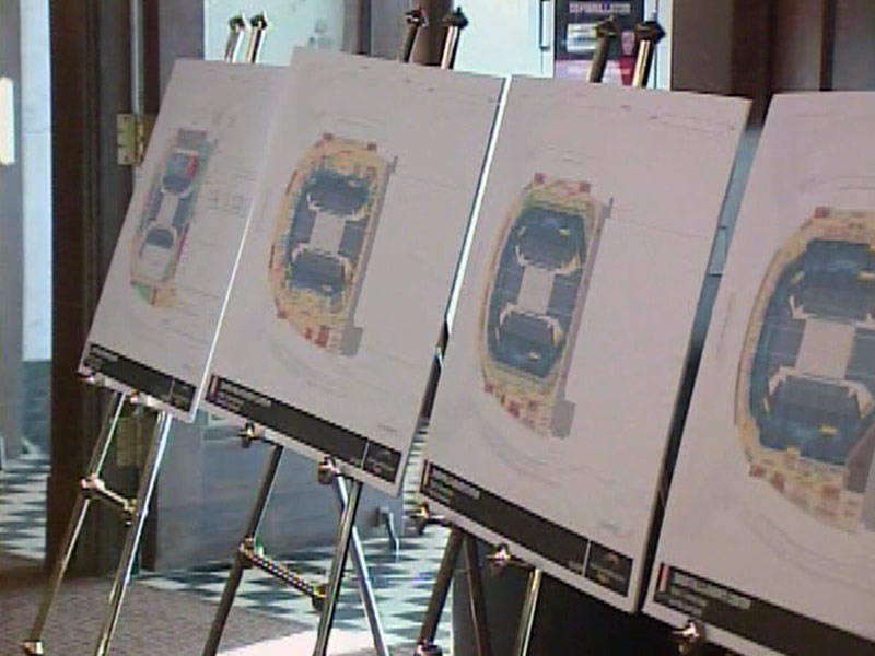 events center plans boards business leader meeting
