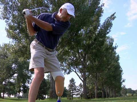 golfing  Tom Hildebrand  heart walk