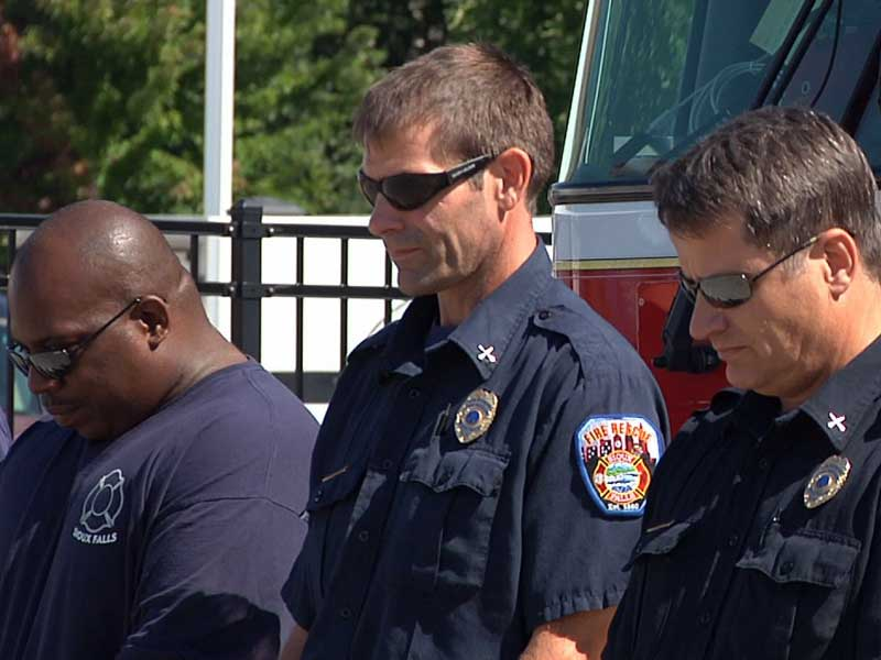 local firefighters honoring Sept. 11 victims