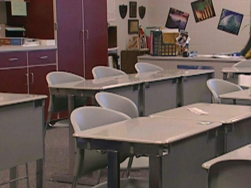 school desks students education