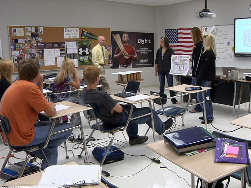 sanborn central classroom students learning