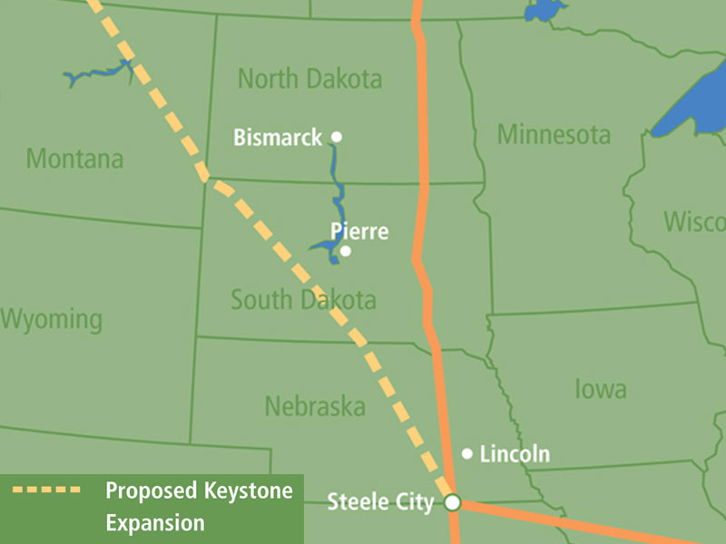 keystone xl pipeline TransCanada through midwest SD NE ND