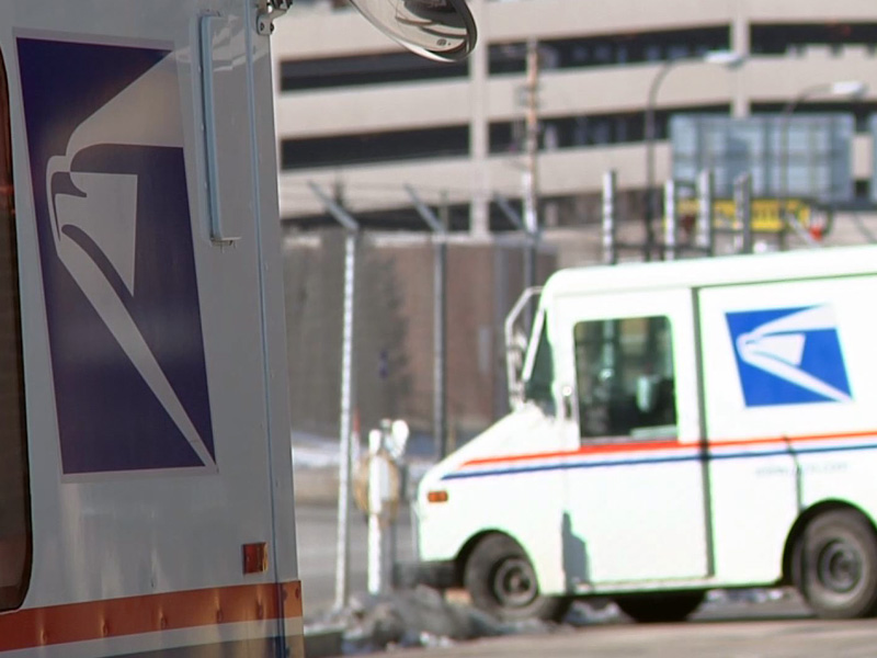 rapid city postal processing center mail trucks