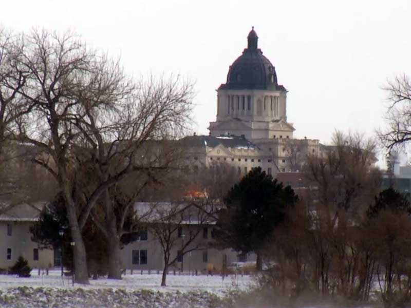 pierre capitol building legislature lawmakers  snow winter