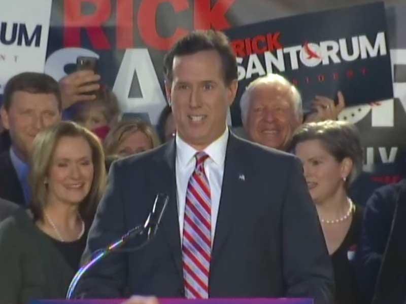 Rick Santorum republican presidential hopeful
