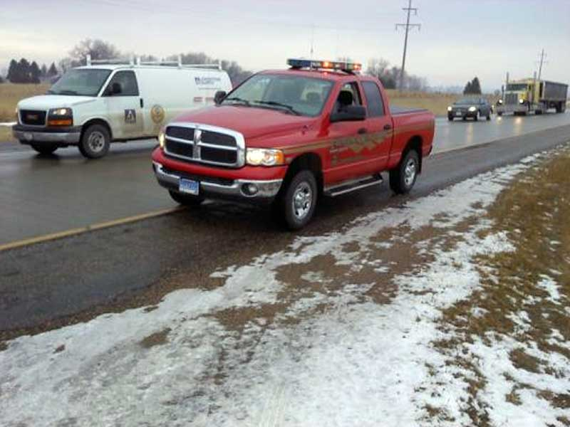 i-29 worthing exit traffic slowed because of crash icy conditions