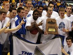 south dakota state university mens basketball team summit league champions