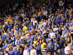 summit league tournament crowd at the arena attendance