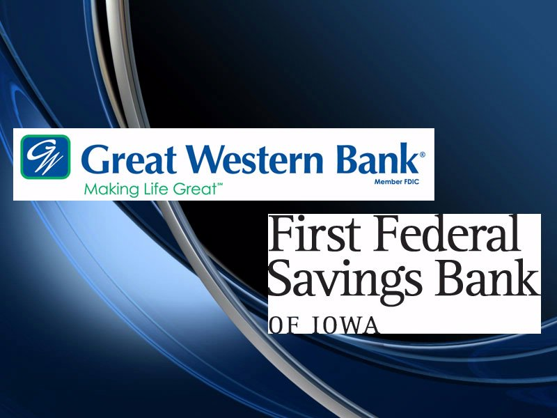 great western bank First Federal savings bank of iowa logos