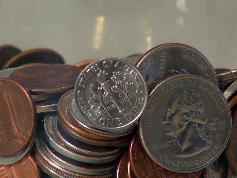 change quarter penny dime nickel money