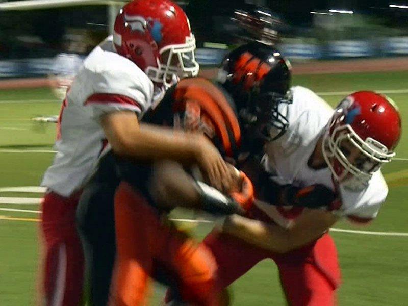 high school football washington lincoln hits tackle roughness