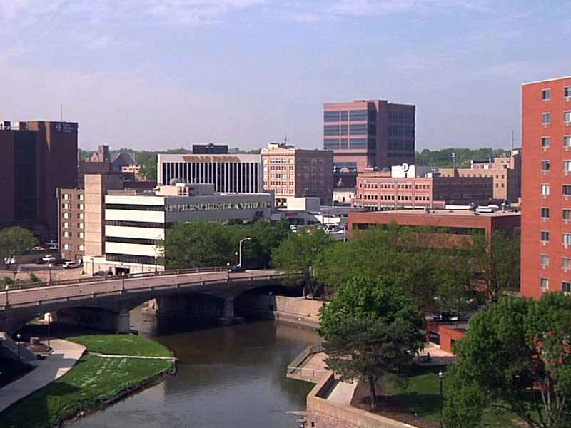 sioux falls skyline buildings downtown