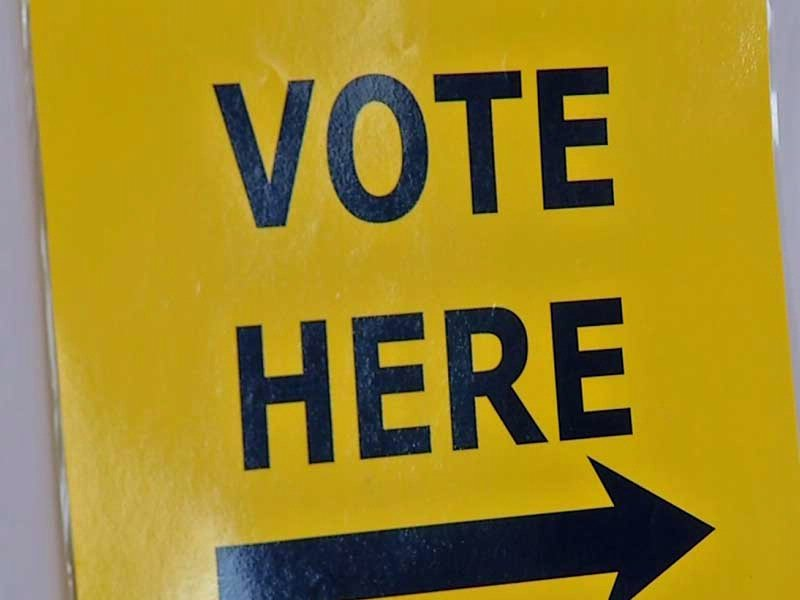 primary day vote here sign election