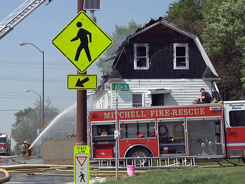 mitchell house fire