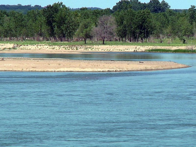 yankton missouri river sandbar water intake