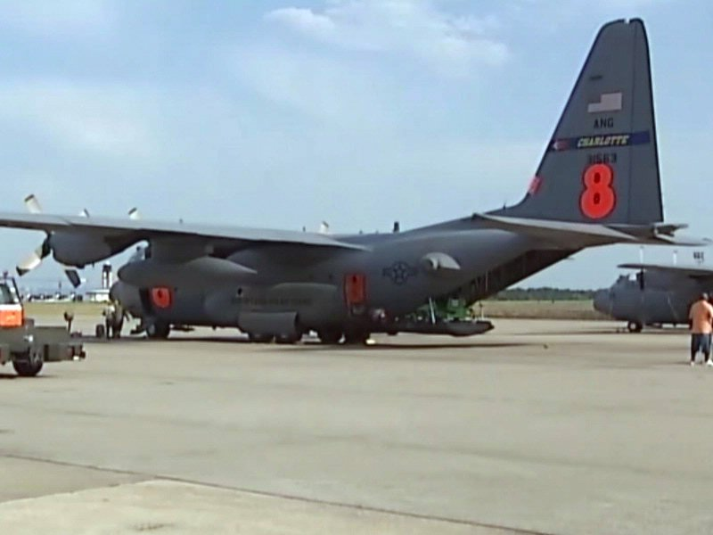 North Carolina C-130 plane courtesy WBTV