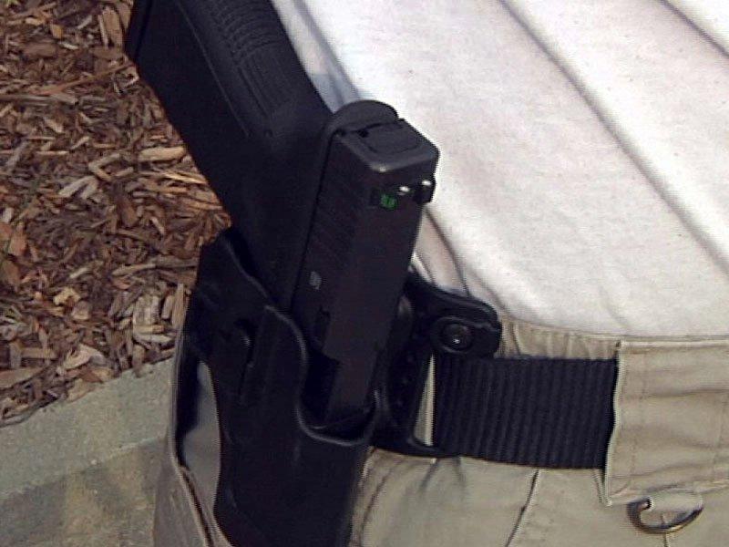 handgun on belt