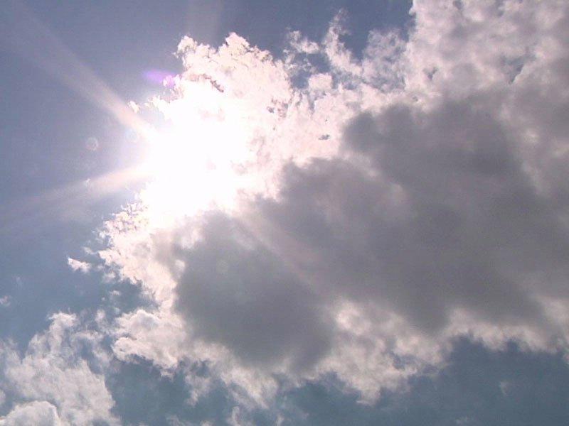 clouds and sun sky
