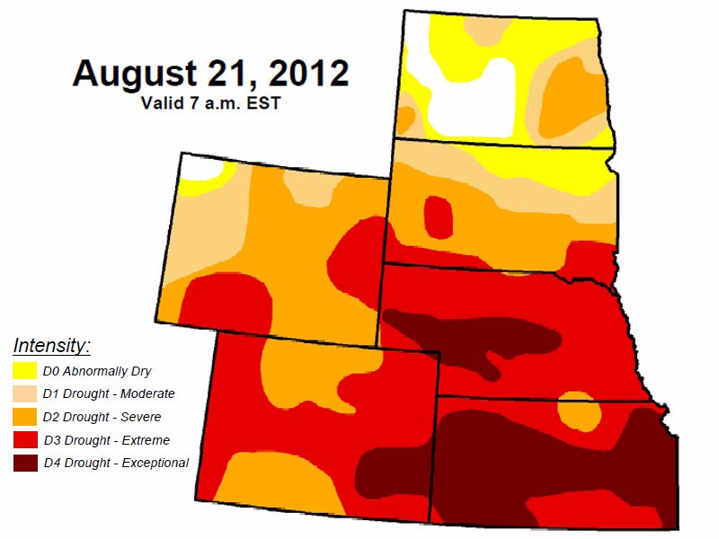 drought monitor August 21 High Plains