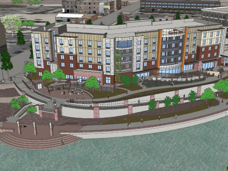 Hilton Garden Inn Along River Greenway In Downtown Sioux Falls Drawings Great Pictures