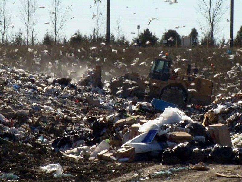 sioux falls sanitary landfill trash garbage piles