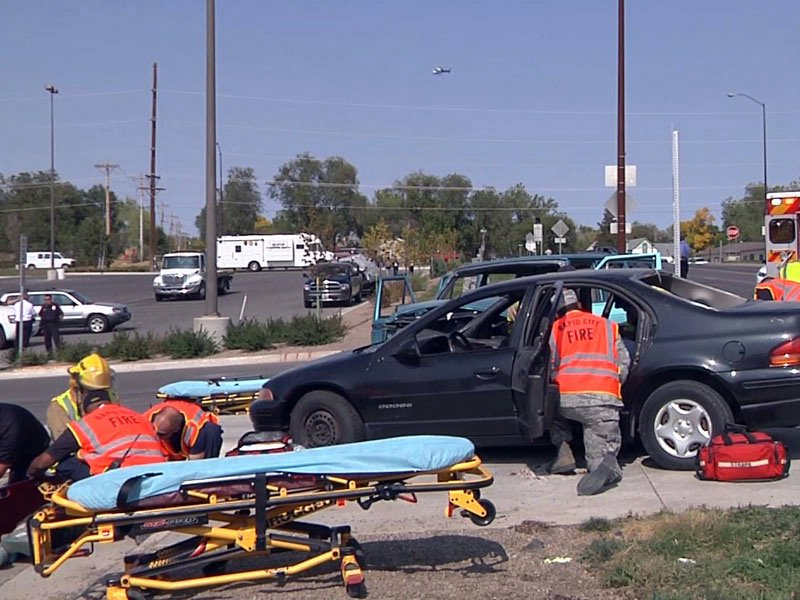 freshman impact project rapid city central high school mock crash
