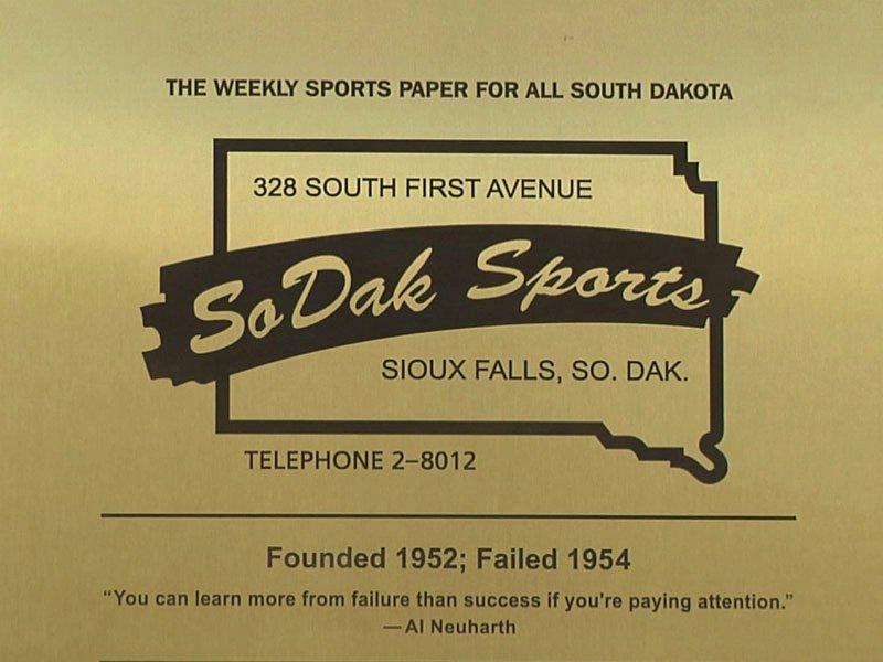sodak sports neuharth plaque outside sid