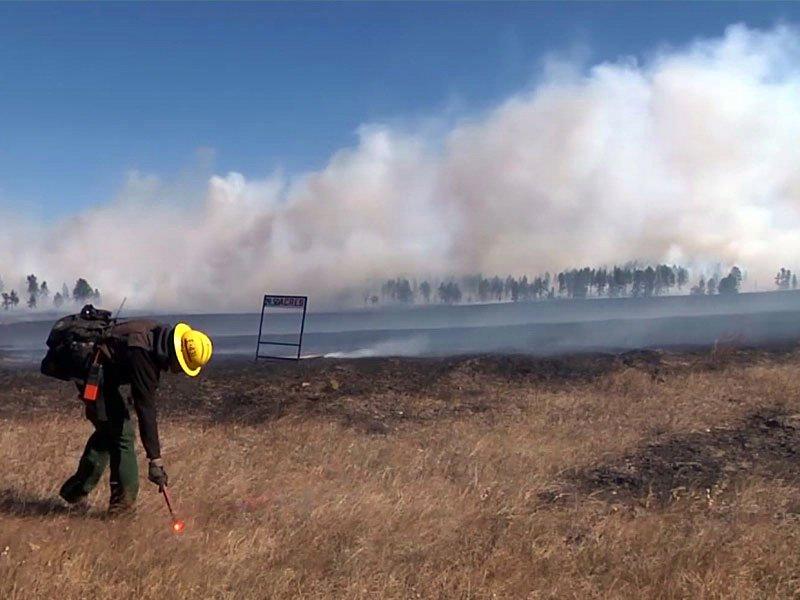 fire near custer