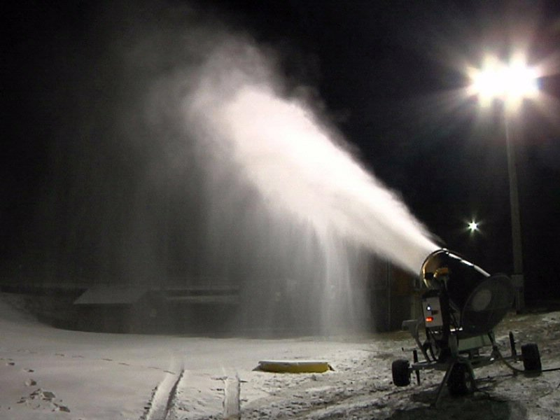 making snow at great bear ski and recreation park winter sports snow machine
