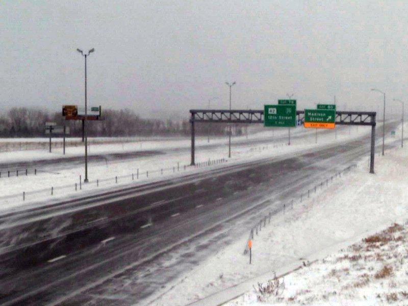 interstate 29 winter weather wind snow