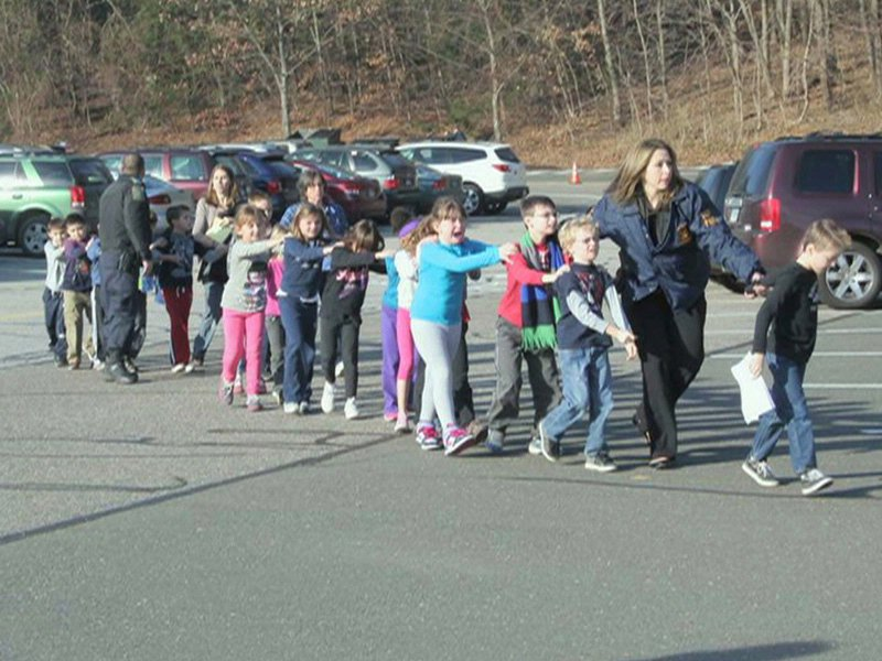 ct school shooting students credit Newtown Bee Newspaper