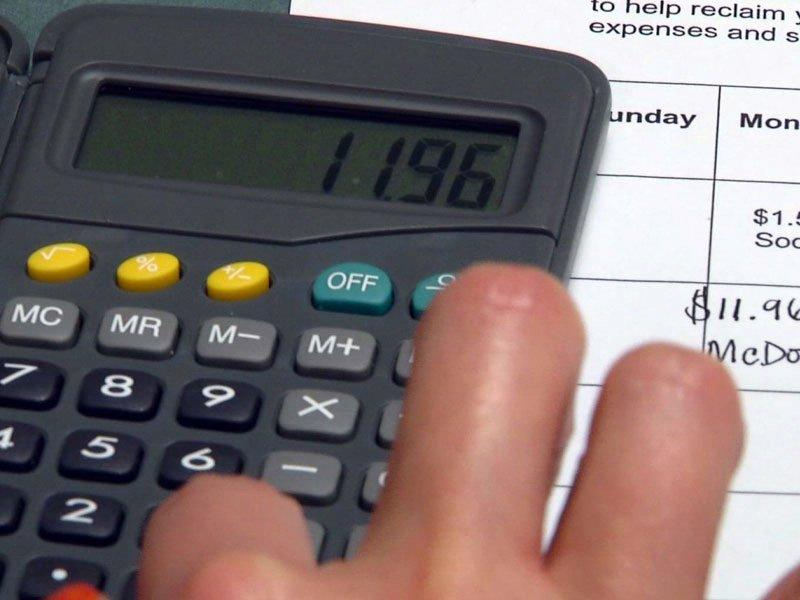 calculator budget financial money receipts