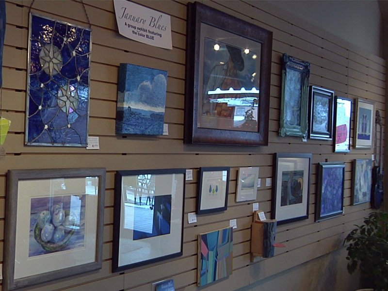 january blues art show at eastbank art gallery