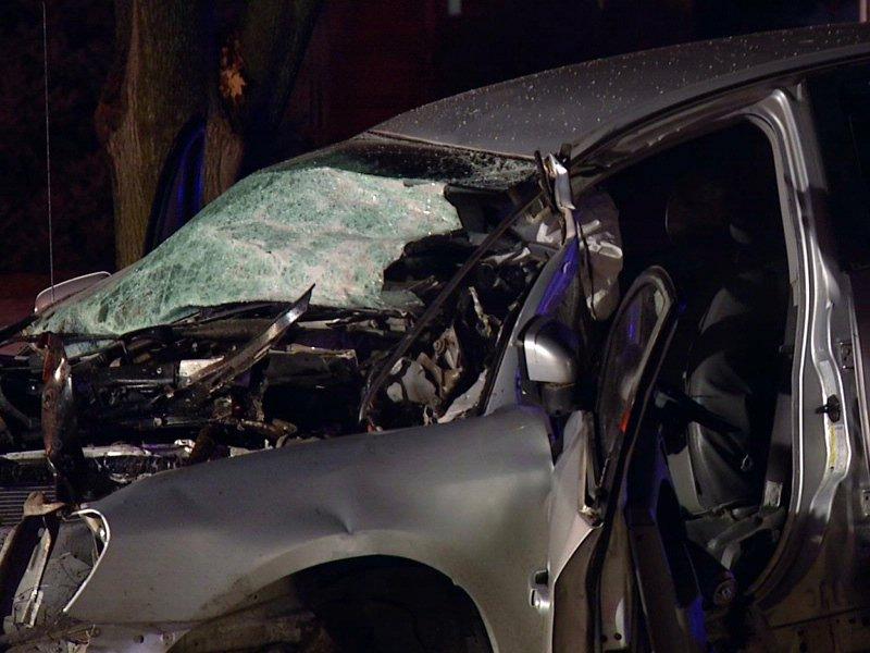 car crash into tree sioux falls person killed