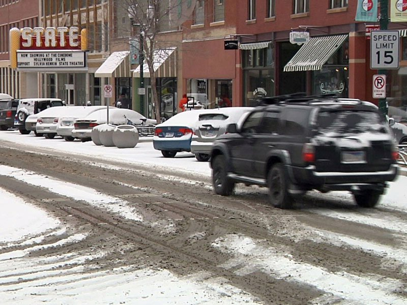 downtown sioux falls, snow
